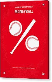 No191 My Moneyball Minimal Movie Poster Acrylic Print by Chungkong Art