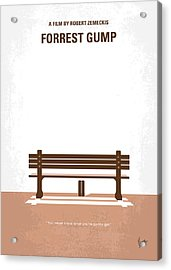 No193 My Forrest Gump Minimal Movie Poster Acrylic Print by Chungkong Art
