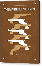 No197 My The Magnificent Seven Minimal Movie Poster Acrylic Print by Chungkong Art