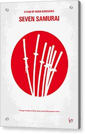 No200 My The Seven Samurai Minimal Movie Poster Acrylic Print by Chungkong Art