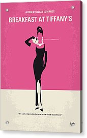 No204 My Breakfast At Tiffanys Minimal Movie Poster Acrylic Print by Chungkong Art