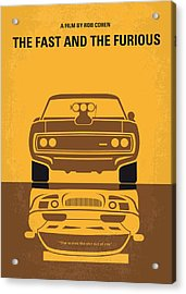 No207 My The Fast And The Furious Minimal Movie Poster Acrylic Print by Chungkong Art