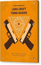 No209 Lara Croft Tomb Raider Minimal Movie Poster Acrylic Print by Chungkong Art