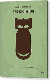 No212 My The Dictator Minimal Movie Poster Acrylic Print by Chungkong Art