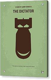 No212 My The Dictator Minimal Movie Poster Acrylic Print