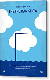 No234 My Truman Show Minimal Movie Poster Acrylic Print by Chungkong Art