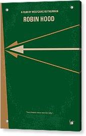 No237 My Robin Hood Minimal Movie Poster Acrylic Print by Chungkong Art