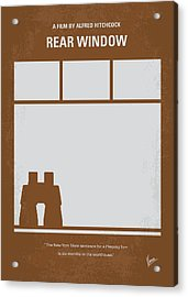 No238 My Rear Window Minimal Movie Poster Acrylic Print by Chungkong Art