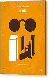 No239 My Leon Minimal Movie Poster Acrylic Print by Chungkong Art
