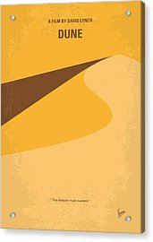 No251 My Dune Minimal Movie Poster Acrylic Print by Chungkong Art