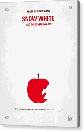 No252 My Snow White Minimal Movie Poster Acrylic Print by Chungkong Art