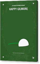 No256 My Happy Gilmore Minimal Movie Poster Acrylic Print