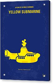 No257 My Yellow Submarine Minimal Movie Poster Acrylic Print by Chungkong Art
