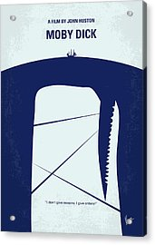 No267 My Moby Dick Minimal Movie Poster Acrylic Print by Chungkong Art