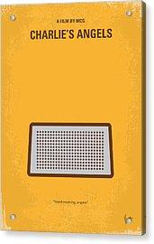 No273 My Charlies Angels Minimal Movie Poster Acrylic Print by Chungkong Art