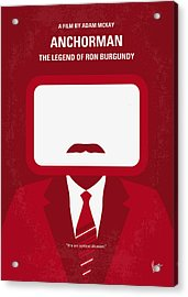 No278 My Anchorman Ron Burgundy Minimal Movie Poster Acrylic Print