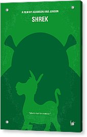 No280 My Shrek Minimal Movie Poster Acrylic Print