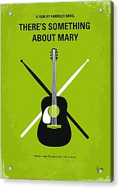 No286 My There's Something About Mary Minimal Movie Poster Acrylic Print by Chungkong Art