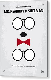 No324 My Mr Peabody Minimal Movie Poster Acrylic Print