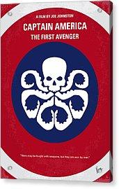 No329 My Captain America - 1 Minimal Movie Poster Acrylic Print by Chungkong Art
