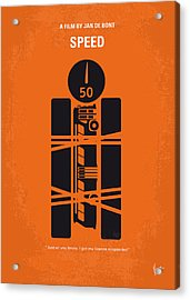 No330 My Speed Minimal Movie Poster Acrylic Print
