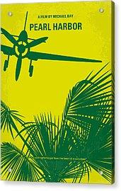 No335 My Pearl Harbor Minimal Movie Poster Acrylic Print by Chungkong Art