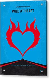 No337 My Wild At Heart Minimal Movie Poster Acrylic Print