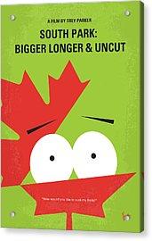 No364 My Bigger Longer Uncut Minimal Movie Poster Acrylic Print by Chungkong Art