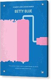 No359 My Betty Blue Minimal Movie Poster Acrylic Print by Chungkong Art
