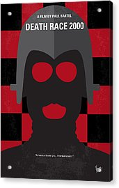 No367 My Death Race 2000 Minimal Movie Poster Acrylic Print