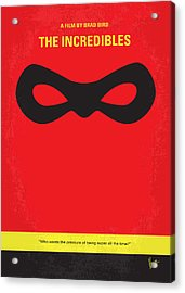 No368 My Incredibles Minimal Movie Poster Acrylic Print