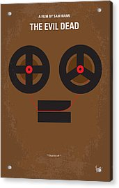 No380 My The Evil Dead Minimal Movie Poster Acrylic Print by Chungkong Art