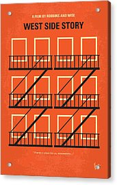 No387 My West Side Story Minimal Movie Poster Acrylic Print by Chungkong Art