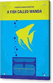 No389 My A Fish Called Wanda Minimal Movie Poster Acrylic Print by Chungkong Art