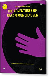 No399 My Baron Von Munchhausen Minimal Movie Poster Acrylic Print