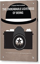 No401 My The Unbearable Lightness Of Being Minimal Movie Poster Acrylic Print