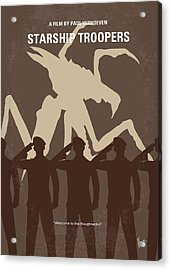 No424 My Starship Troopers Minimal Movie Poster Acrylic Print by Chungkong Art