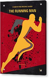 No425 My Running Man Minimal Movie Poster Acrylic Print
