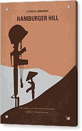 No428 My Hamburger Hill Minimal Movie Poster Acrylic Print by Chungkong Art