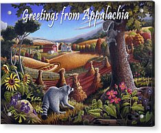 no6 Greetings from Appalachia Acrylic Print by Walt Curlee
