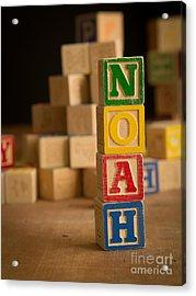 Noah - Alphabet Blocks Acrylic Print by Edward Fielding
