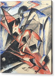 Noah And The Fox Acrylic Print by Franz Marc