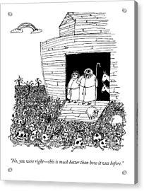 Noah, Speaking Upward To Heaven, Exits The Ark Acrylic Print