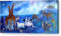 Noahs Ark - After The Flood  Acrylic Print by Trudi Doyle