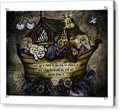 Noah's Ark Acrylic Print by La Rae  Roberts
