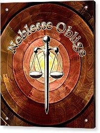 Noblesse Oblige Acrylic Print by Anastasiya Malakhova