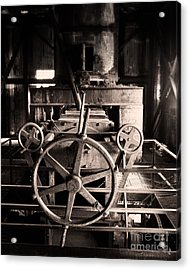 Nobody At The Wheel Acrylic Print by Royce Howland