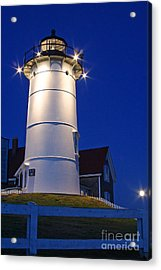 Nobska Light And The Beaver Moon Acrylic Print by Butch Lombardi