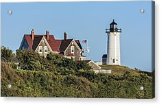 Nobska Lighthouse Woods Hole Cape Cod Ma Acrylic Print by Marianne Campolongo