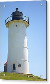 Acrylic Print featuring the photograph Nobska Point Lighthouse Ma by Suzanne Powers
